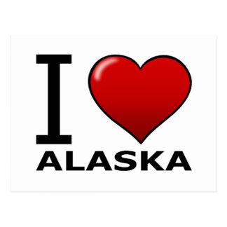 J'AIME L'ALASKA CARTE POSTALE