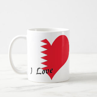 J'aime le Bahrain Mug Blanc