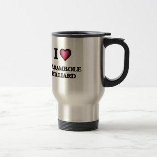 J'aime le billard de Carambole Mug De Voyage En Acier Inoxydable