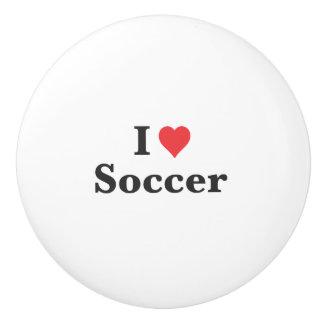 J'aime le bouton en céramique du football