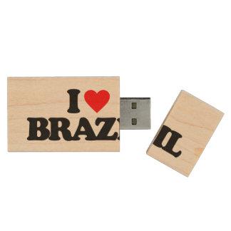 J'AIME LE BRÉSIL CLÉ USB 2.0 EN BOIS