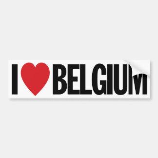 """J'aime le coeur Belgique décalque de vinyle de 11"""" Autocollant De Voiture"""