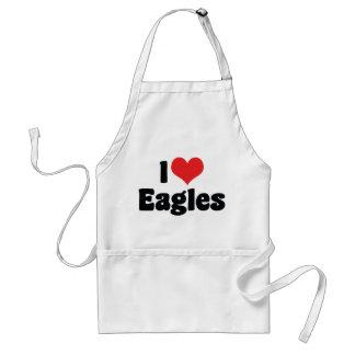 J'aime le coeur Eagles Tablier