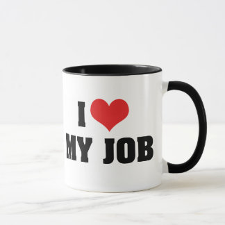 J'aime le coeur mon travail mug