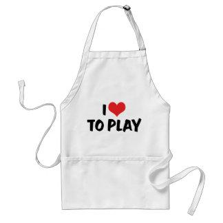 J'aime le coeur pour jouer - au football de tablier