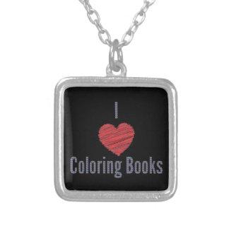 J'aime le collier de livres de coloriage