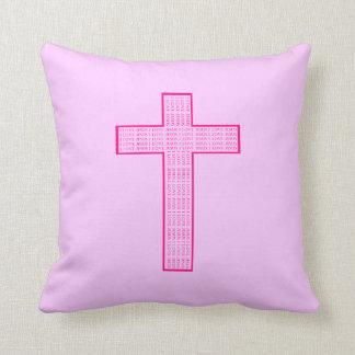 J'aime le coussin de croix de Jésus