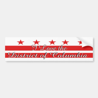 J'aime le District de Columbia l'adhésif pour pare Autocollant De Voiture