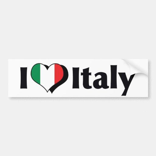 J'aime le drapeau de l'Italie Adhésifs Pour Voiture