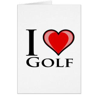 J'aime le golf carte de vœux