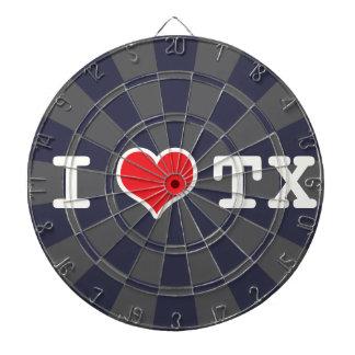 J'aime le gris de charbon de bois du Texas Jeux De Fléchettes
