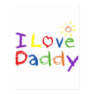 J'aime le papa cartes postales