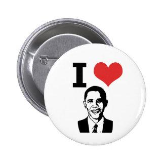 J'aime le Pin d'Obama Badge Rond 5 Cm