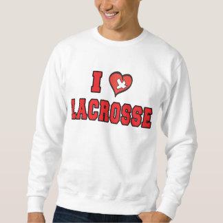 J'aime le sweatshirt de lacrosse