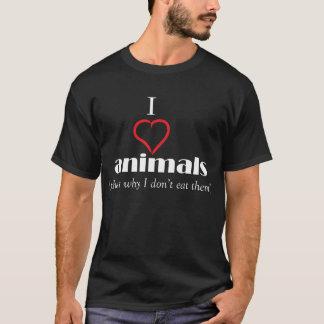 j'aime le T-shirt d'animaux