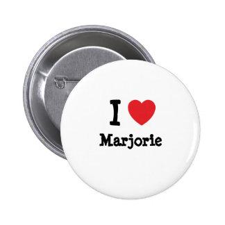 J'aime le T-shirt de coeur de Marjorie Badge Rond 5 Cm