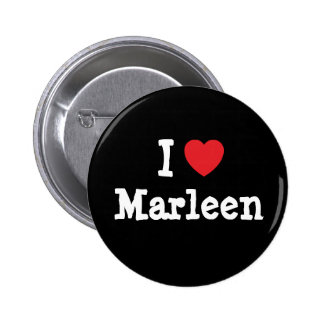 J'aime le T-shirt de coeur de Marleen Badge Rond 5 Cm