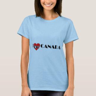 J'aime le T-shirt de femmes du Canada