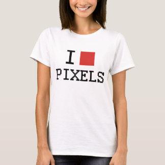 J'aime le T-shirt de pixels de coeur des pixels/I