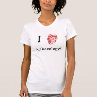 J'aime le T-shirt des femmes d'archéologie