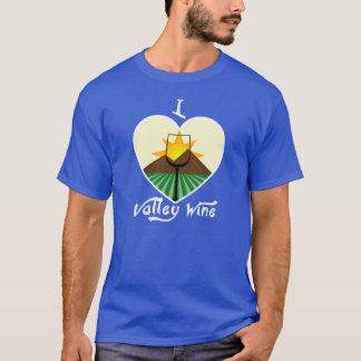 J'aime le T-shirt des hommes de vin de vallée -