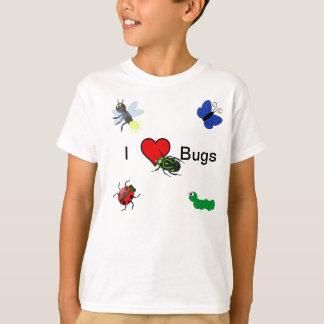 J'aime le T-shirt d'insectes pour des enfants