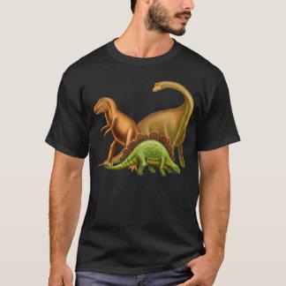 J'aime le T-shirt foncé adulte de dinosaures