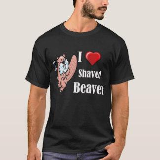 J'aime le T-shirt rasé de castor
