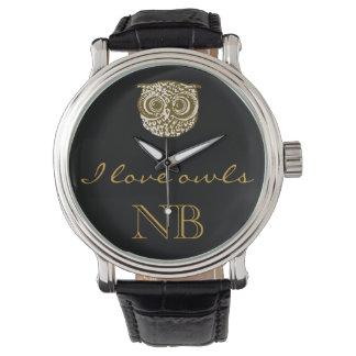 j'aime le temps de hiboux montres