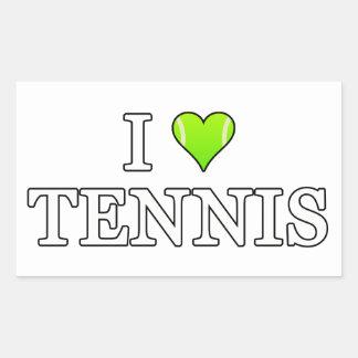 J'aime le tennis sticker rectangulaire
