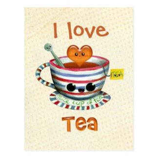 J'aime le thé carte postale