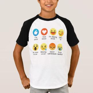 J'aime l'émoticône du football (emoji) - obscurité t-shirt