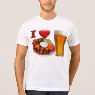 J'aime les ailes de buffle et le T-shirt de bière