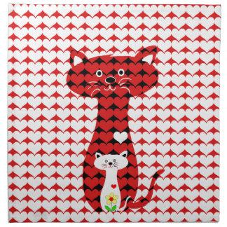 J'aime les chats 2 serviettes