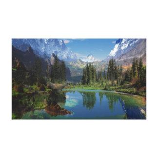 J'aime les copies de toile de montagnes rocheuses