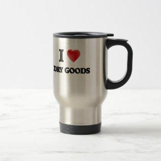 J'aime les marchandises sèches mug de voyage en acier inoxydable