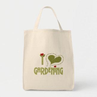 J'aime les T-shirts et les cadeaux de jardinage Tote Bag