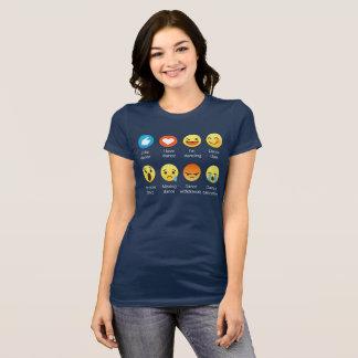 J'aime l'icône sociale Sayin d'émoticône de DANSE T-shirt