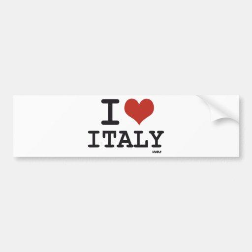 J'AIME L'ITALIE AUTOCOLLANT POUR VOITURE