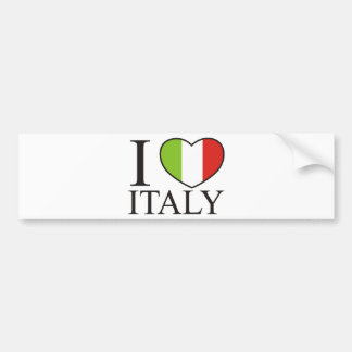 J'aime l'Italie Autocollants Pour Voiture
