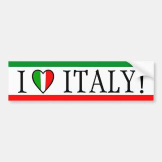 J'aime l'Italie ! Drapeau de coeur Adhésif Pour Voiture