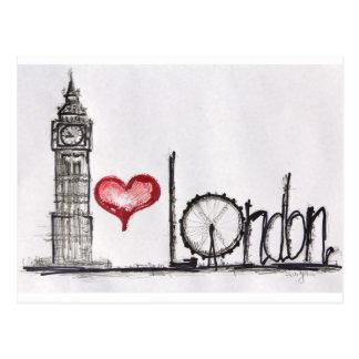 J'aime Londres Carte Postale