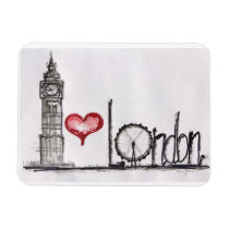 J'aime Londres Magnets Rectangulaire