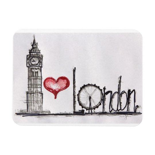 J'aime Londres Magnets Rectangulaire