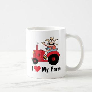 J'aime ma ferme mug blanc
