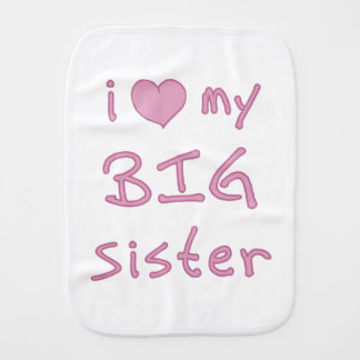 J'aime ma grande soeur linge de bébé