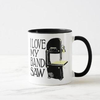 J'aime ma scie à ruban mug