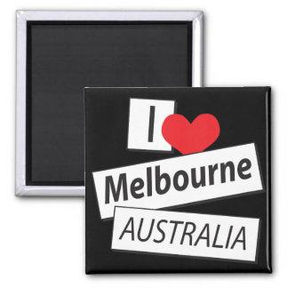 J'aime Melbourne Australie Magnet Carré