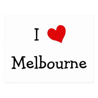 J'aime Melbourne Carte Postale