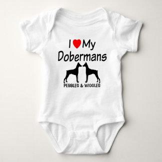 J'aime mes chiens de DEUX dobermann Body